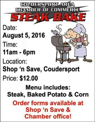 8-5 Steak Bake At Shop n' Save, Coudersport