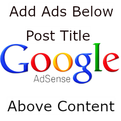 Add Google AdSense Ads Below The Title And Side Post In Blogger
