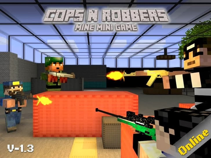 Cops N Robbers (FPS) - Mine Mini Game App By JoyDo Entertainment