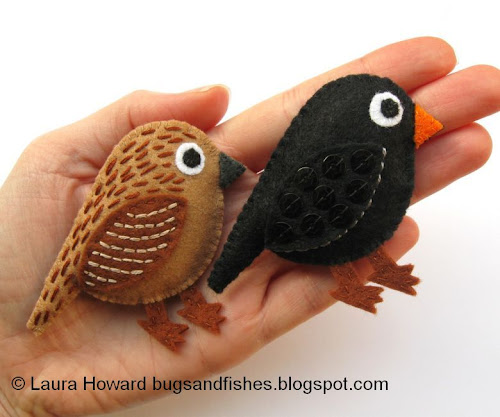 http://bugsandfishes.blogspot.com/2013/10/how-to-make-pair-of-felt-blackbirds.html