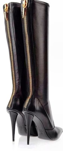 Black leather boots from Giuseppe Zanotti