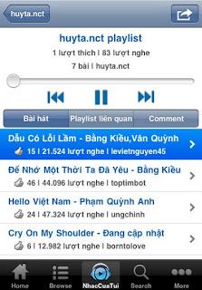Nhac Cua Tui cho Iphone