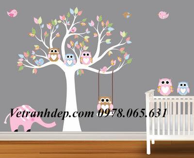 vẽ tranh tường,vẽ tranh tường cho bé