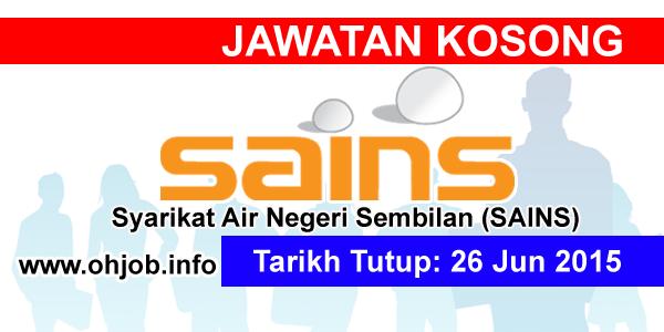 Jawatan Kerja Kosong Syarikat Air Negeri Sembilan (SAINS) logo www.ohjob.info jun 2015