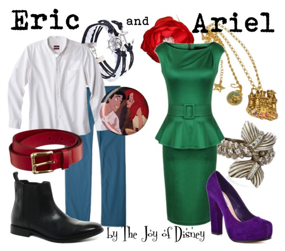 ariel and eric, disney couple, disney love, little mermaid, ariel, prince eric, disney, ariel costume, prince eric costume, disney costume
