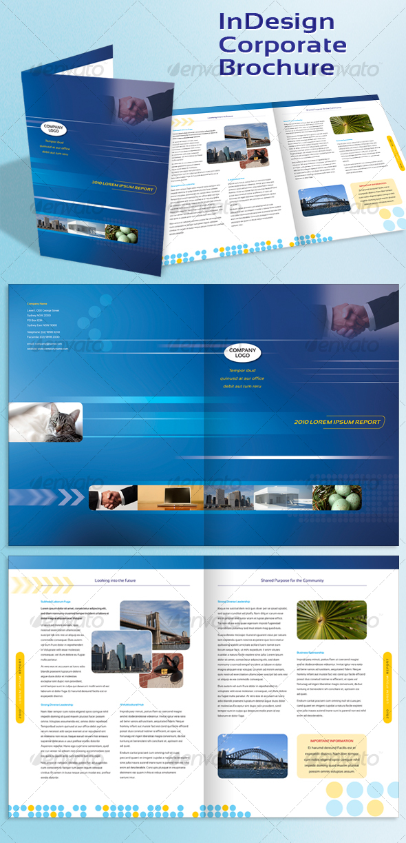 Brochure zafira pics indesign brochure templates for Free brochure indesign template
