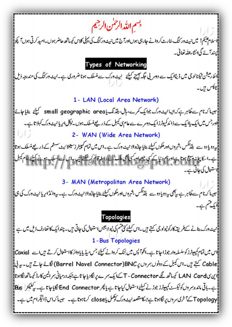 Networking Urdu Zuban Main