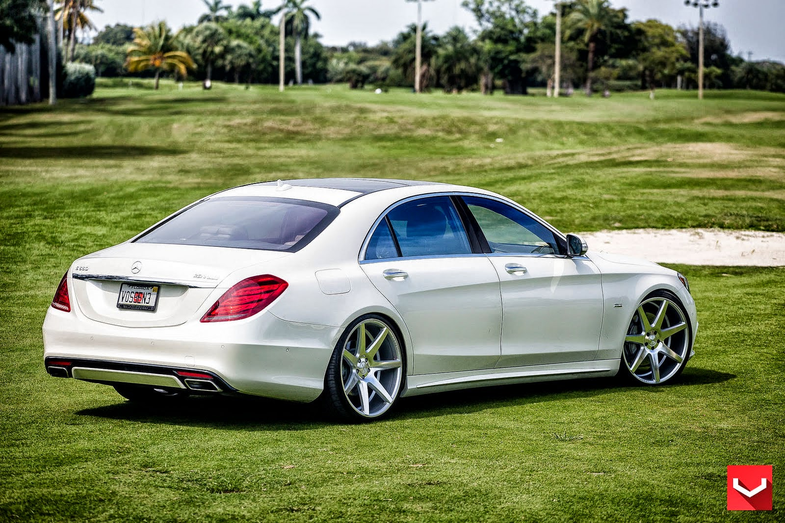 Mercedes benz w222 s550 on vossen cv7 wheels benztuning for Mercedes benz wheels rims