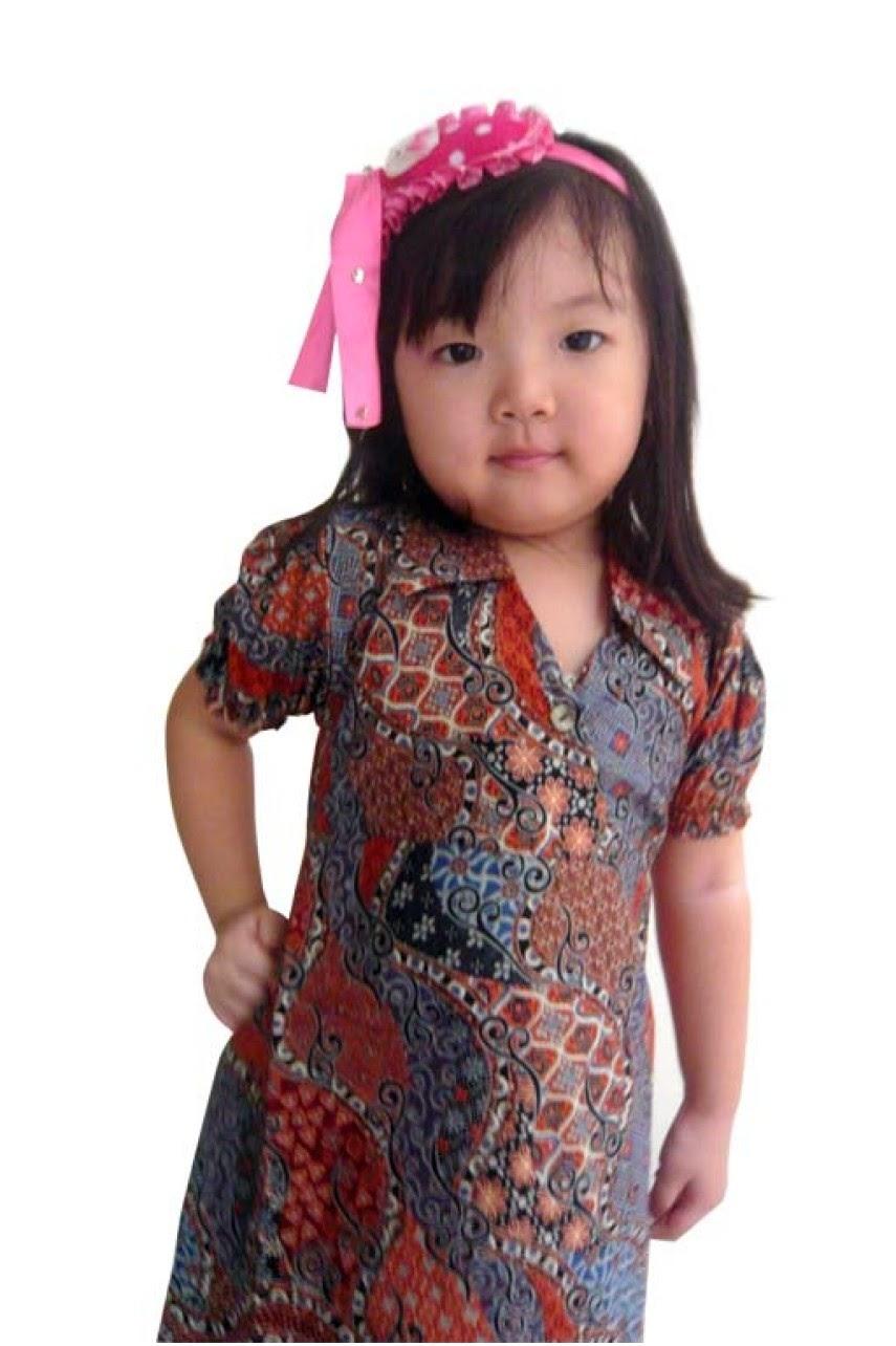 Model baju batik anak perempuan terbaru