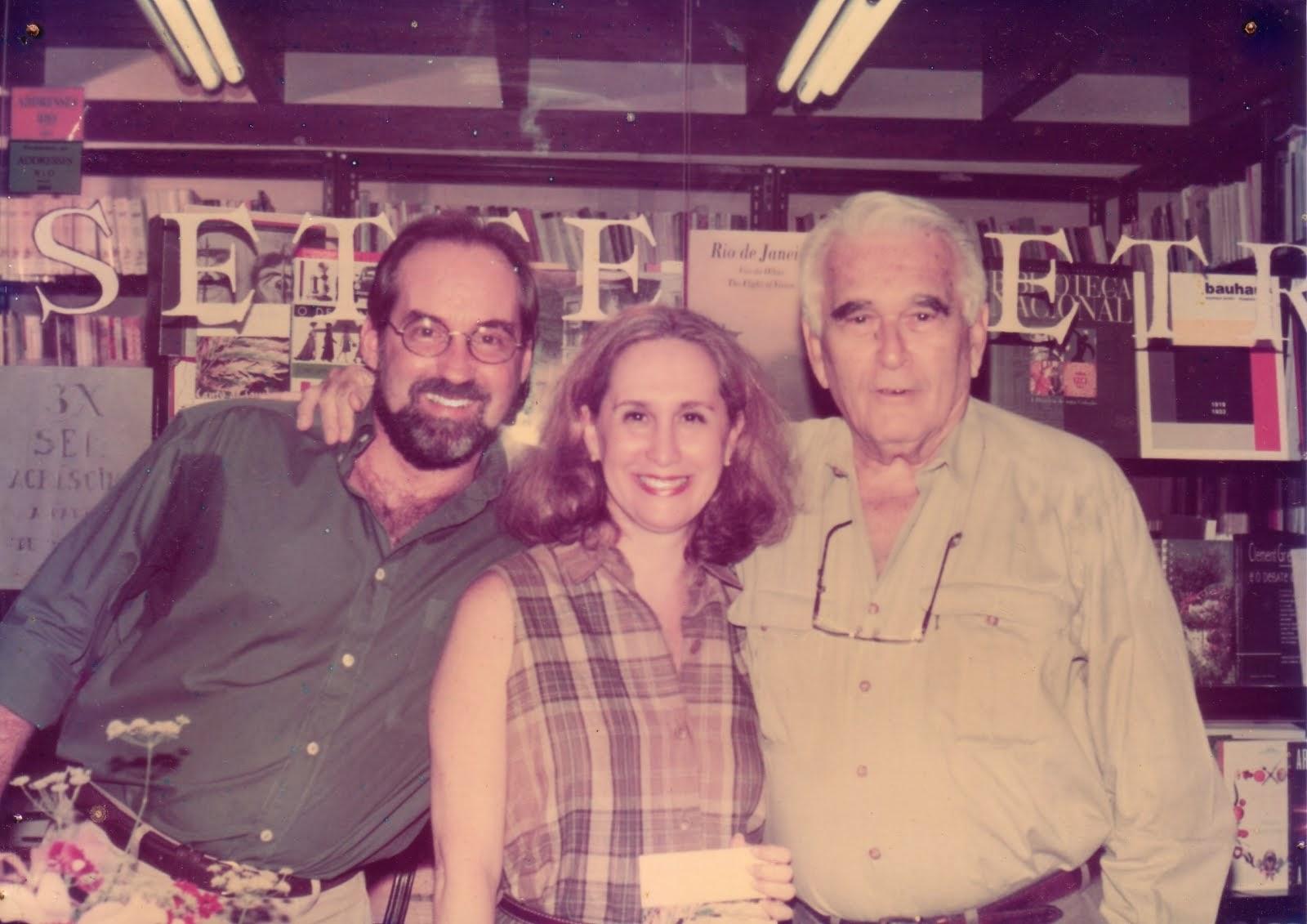 Lançamento do livro Canto de sombras, 1997. Foto de arquivo pessoal.