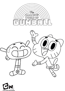 The Amazing World Of Gumball Coloring Pages Darwin
