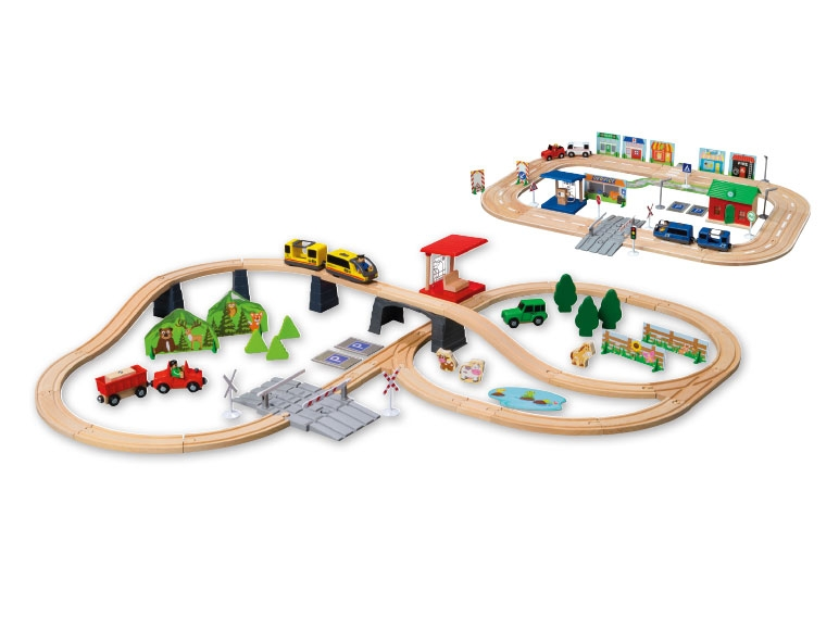 Playtive junior wooden train car set lidl opinions for Playtive junior cuisine