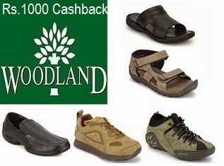 Get Cashback Rs.1000 on Purchase of Woodland Shoes & More Brands  @ Paytm