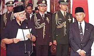 Saat Suharto mundur sebagai Presiden RI