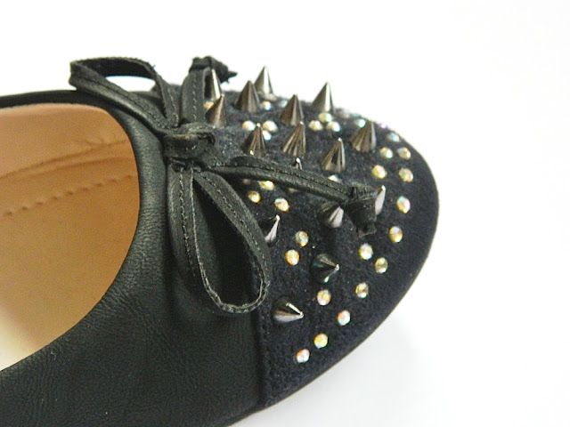 Spike Studded Toecap Ballerinas Barratts