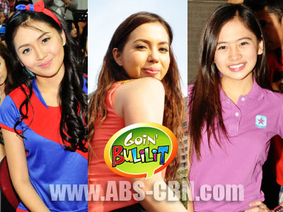 Ex-bulilits Kathryn Bernardo, Julia Montes and Ella Cruz