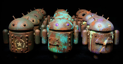 Custom Android Blind Box Series by DrilOne - Military Android, Vintage Android &amp; Radioactive Android