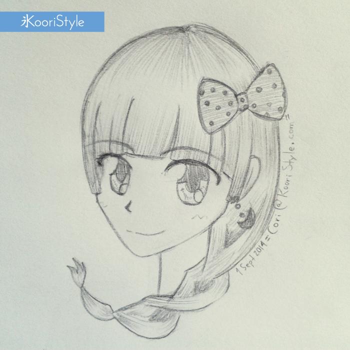 Koori Style KooriStyle Drawing Doodle Skecth Anime Ribbon Kawaii Rose Braid