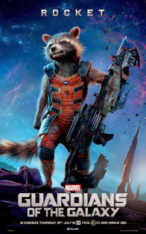 Guardians of the Galaxy International Character Movie Posters - Rocket Raccoon