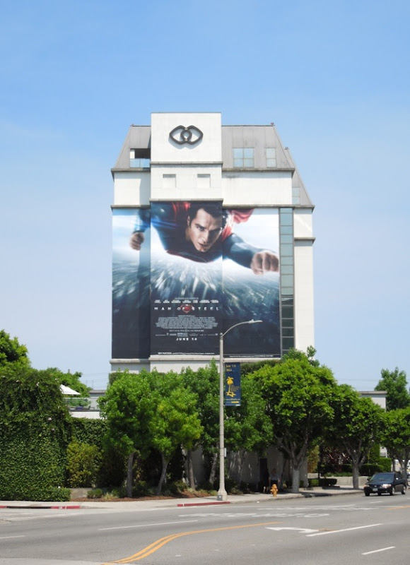 Giant Man of Steel billboard Beverly Boulevard
