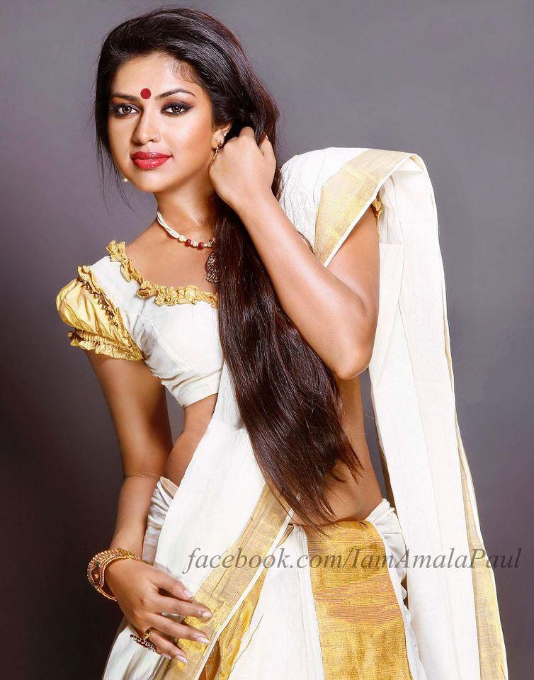 Amalapal in Kerala saree