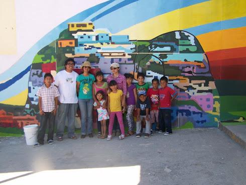 El equipo que ayudo a relizar este proyecto de mural