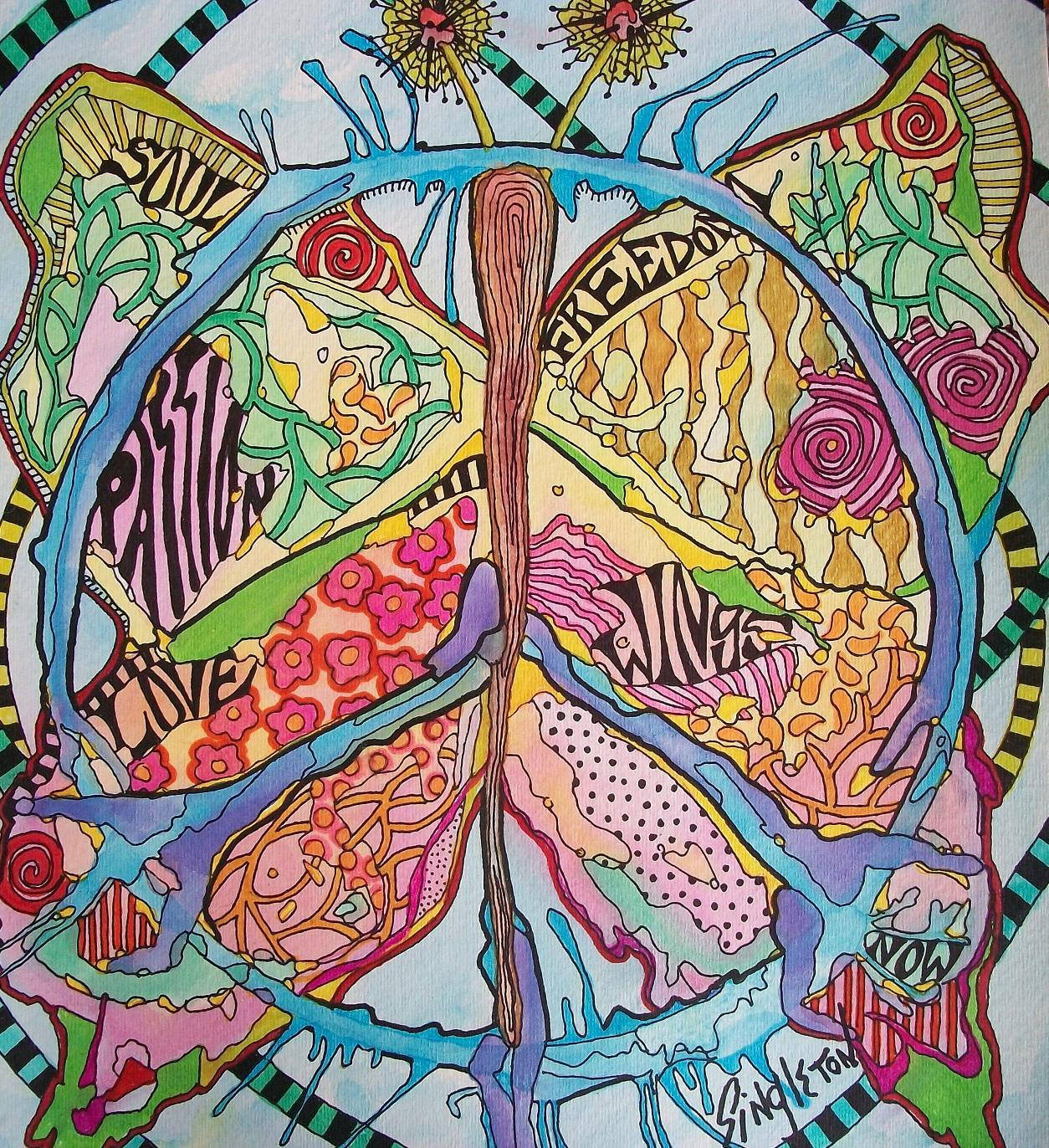 hippie art wallpaper one more time hippie art