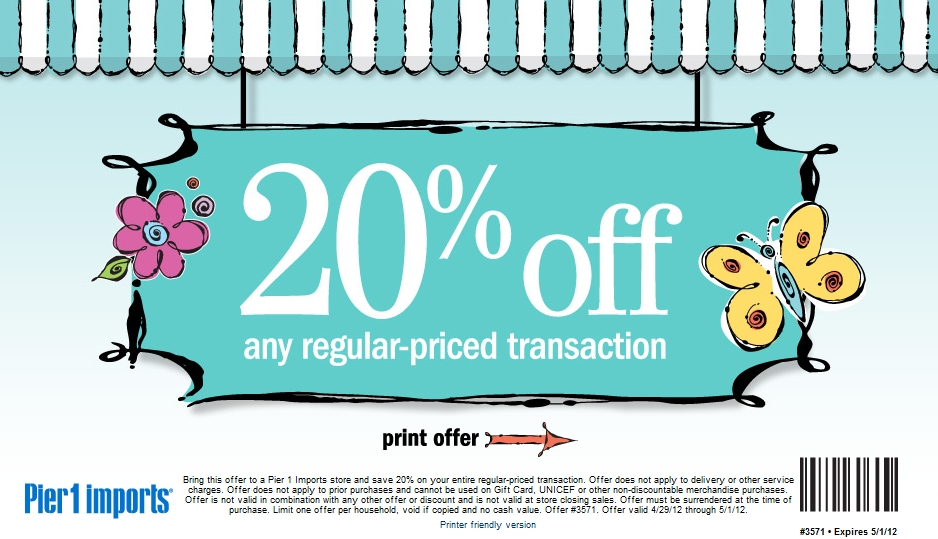 Pier one discount coupon