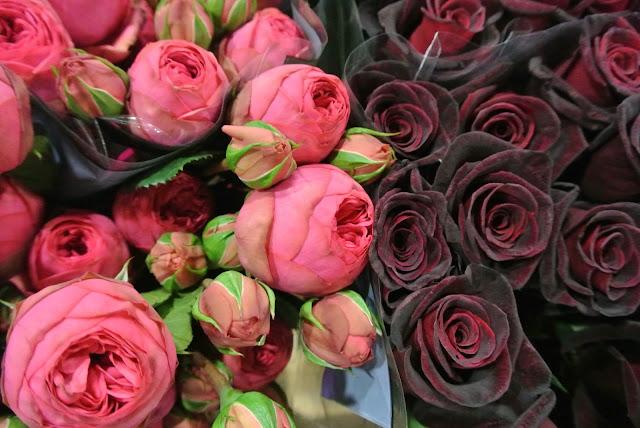 peonies black roses New Covent Garden Flower Market