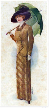 Sewing through La Mode Illustree patterns from 1912