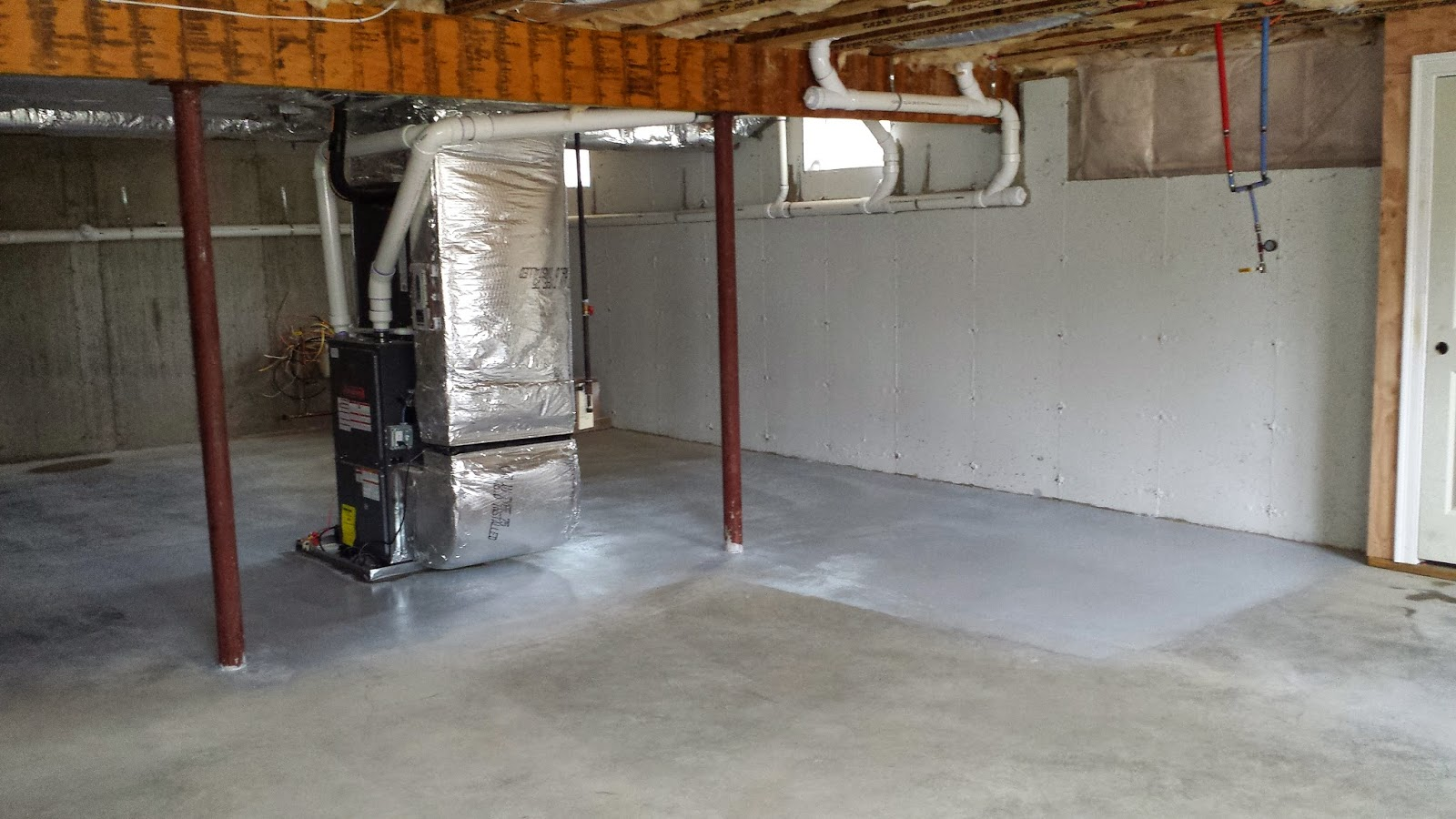 ocean state home painting the basement floor a little snow 6d4322