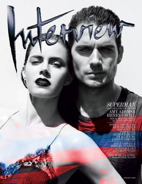 Amy Adams and Henry Cavill on Interview Magazine Cover