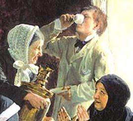 Alexei Korzukhin, In a Monastic Hotel, 1882, detail