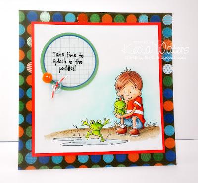 Kraftin' Kimmie, Cheryl Grant, Kecia Waters, Copic markers, frogs