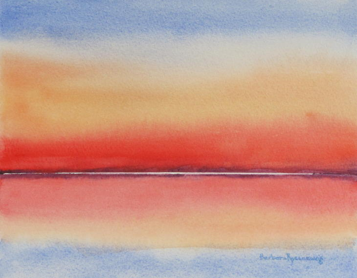 SUNSET ABSTRACT 1 WATERCOLOR