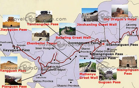 Great Wall tourist map