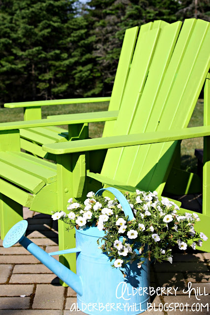 1 PM096 Im Lovin Lime Green Adirondack Chairs