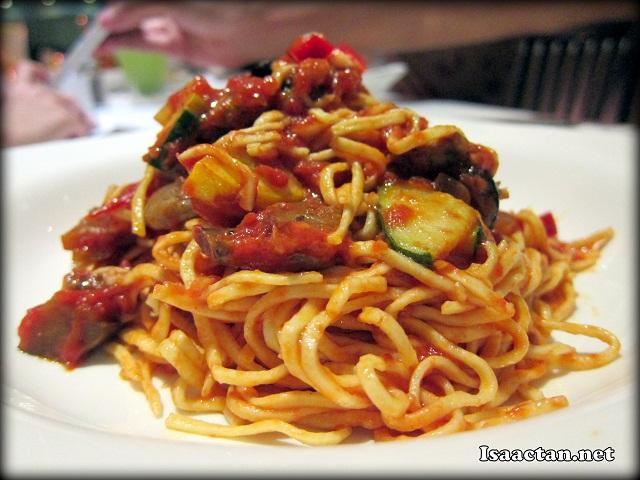 Vegetarian Fresh Spaghetti - RM13.90