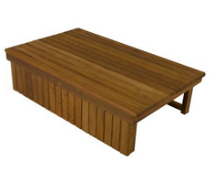 Teak Elevated Shower Mat