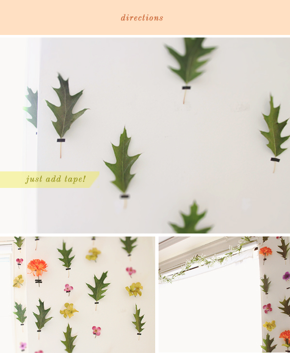 DIY Removable Floral wallpaper
