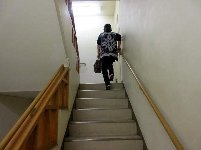 展望所への階段