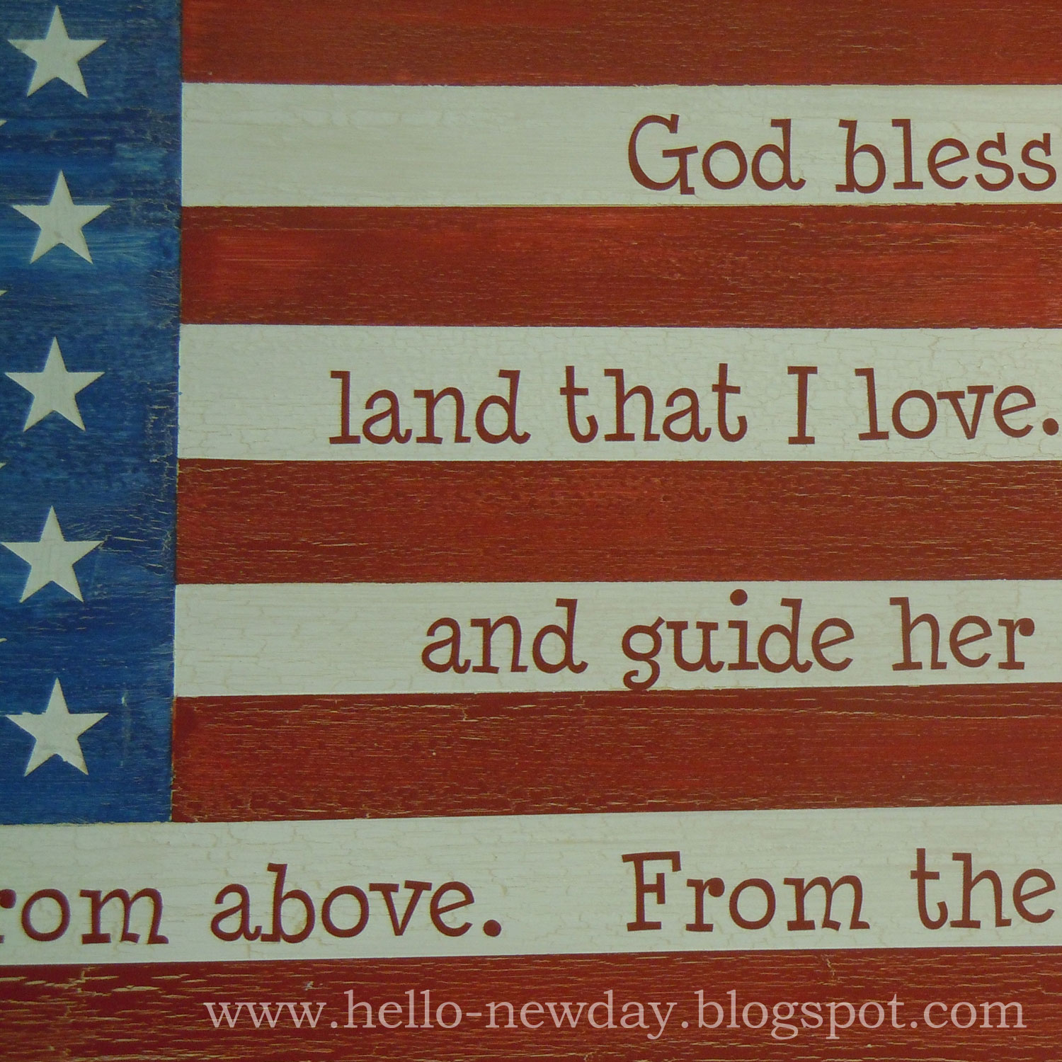 Hello, New Day: Better Late Than Never? 4th of July Painted Flag ...