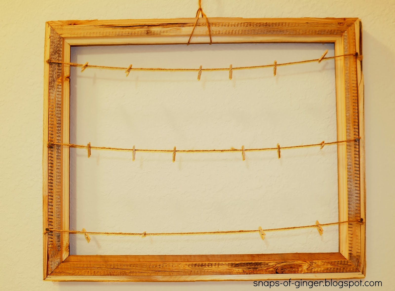 Snaps of Ginger: DIY Rustic Picture Frame