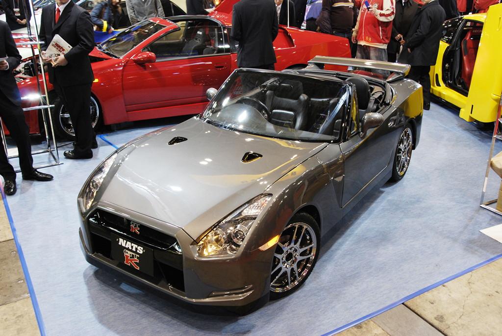 Nats GT-K, Nissan GT-R, Suzuki Cappuccino, conversion, konwersja, swap, zamiana, tuning, modyfikacje, praca studentów, Japonia, targi, prezentacja, modified