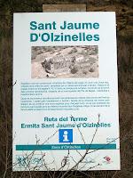 Rètol informatiu de Sant Jaume d'Olzinelles