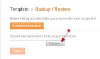 Template backup/restore