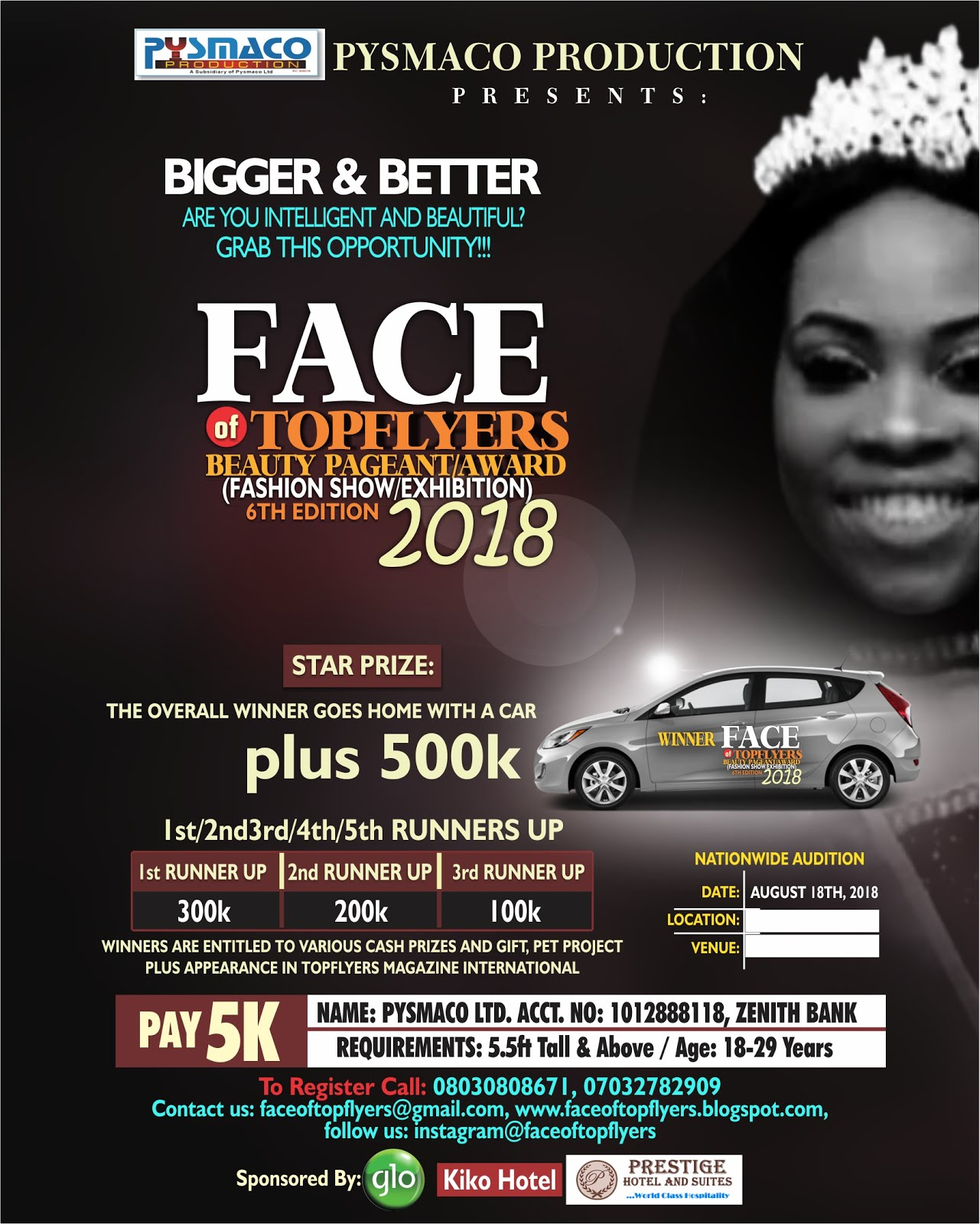 face of top flyers sales of form 2018