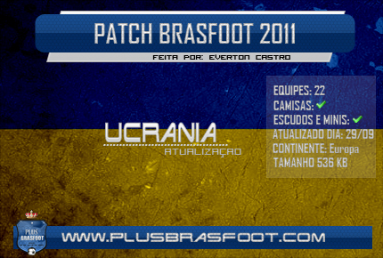 Patch Ucrnia - Brasfoot 2016 Brasfoot