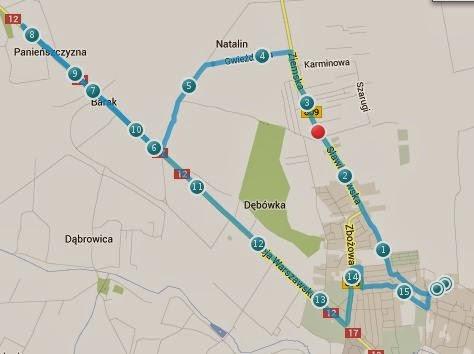 Trasa biegania - Lublin