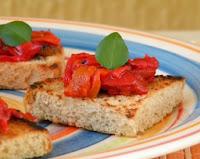 Antepasto de Pimentão Vermelho (vegana)